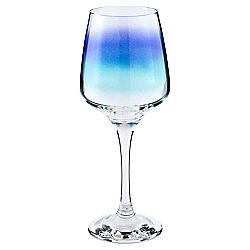 Tesco Blue Spray Large Glass Wine