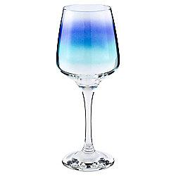Tesco Blue Spray Large Glass Wine