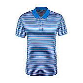 Quest Mens Striped Technical Polo Shirt - Multi