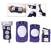 XQ Max Purple Triple Skate Pad Set