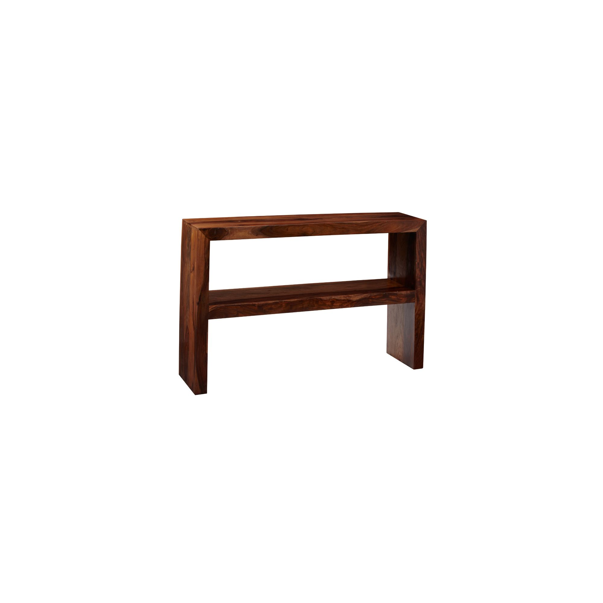 Indian Hub Cube Sheesham Console Table with Shelf at Tesco Direct