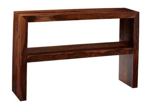 Indian Hub Cube Sheesham Console Table with Shelf
