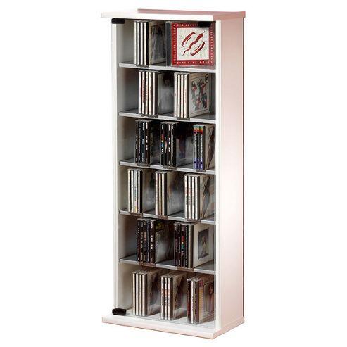 VCM Vetro CD / DVD Storage Tower - White