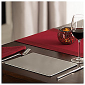 Tesco Silver Glitter Placemats 4 Pack