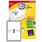 Avery Addressing Labels Laser Jam-free 2 per Sheet 199.6x143.5mm White Ref L7168-250 [500 Labels]