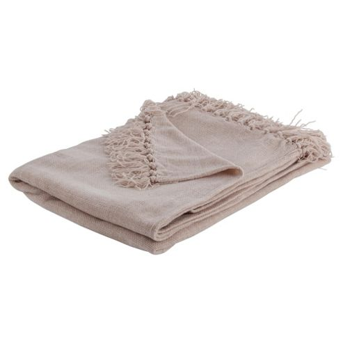 Tesco Chenille Throw- Stone 125X160Cm