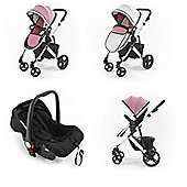Tutti Bambini Riviera Plus Travel System - Dusty Pink/Cool Grey