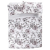Tesco Scroll Rose Duvet Set Double