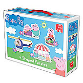 Peppa Pig 4 in 1 Shaped Jigsaw Puzzles