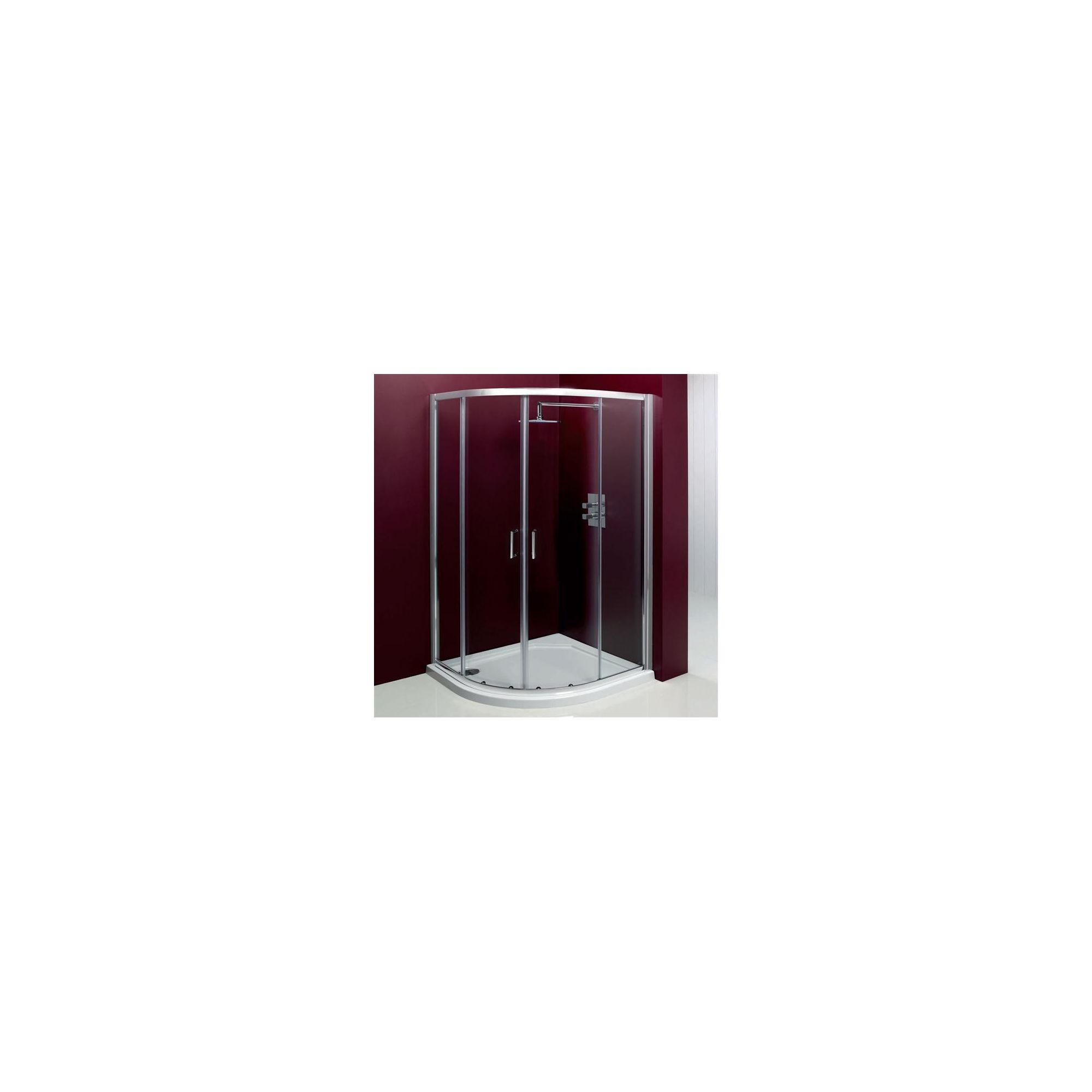 Merlyn Vivid Entree Quadrant Shower Enclosure, 800mm x 800mm, Low Profile Tray, 6mm Glass at Tesco Direct