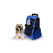 PawHut Pet Travel Backpack Bag Cat Puppy Dog Carrier w/ Trolley