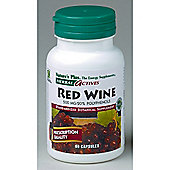 Natures Plus Herbal Actives Red Wine 500 mg 60 Veg Capsules