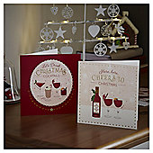 Christmas Cocktails Christmas Cards, 10 pack