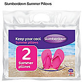 Slumberdown summer cool pillow pair
