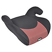Kiddu Buddy Booster Seat Group 3, Black/Red Stripe