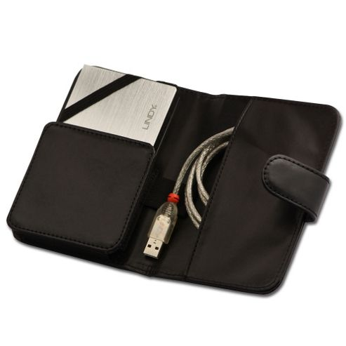Lindy 2.5 Inch Hard Drive Wallet Black