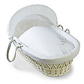 Clair de Lune White Wicker Moses Basket (Starburst White)