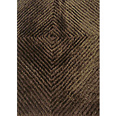 Angelo Fingerprint Brown Tufted Rug - 240cm H x 170cm W (7 ft 10.5 in x 5 ft 7 in)