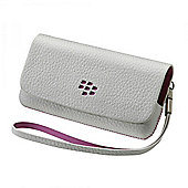 Leather Folio (White / Pink) for Pearl 2 9100