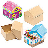 House Card Craft Boxes (Pack of 4)