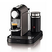 Nespresso CitiZ Coffee Machine Titanium with Aeroccino