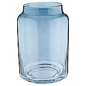 Tesco Hurricane Candle Jar, Blue