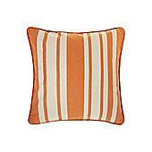 Linea Stripe Cotton Cushion, Orange