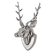 Aluminium Stag's Head on a Plaque Feature Wall Art