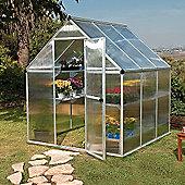 Palram Mythos 6' x 6' Greenhouse, Silver