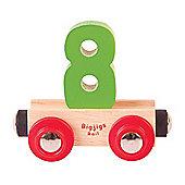 Bigjigs Rail Rail Name Number 8 (Green)