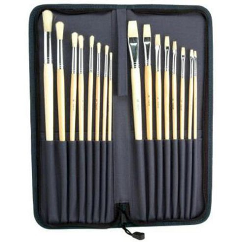 16 Piece Oil/Acrylic Brush Set