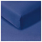 Tesco Fitted Sheet Navy, Double