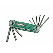 Faithfull Folding Hex Key Set 9 A/F