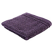 Tesco Egyptian Cotton Face Cloth, Aubergine