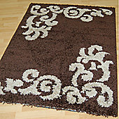 Origin Red Lotus Chocolate / Beige Rug - 220cm x 160cm