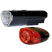 Black Widow High Five Front and Defender Rear Bike Light Set. (5 LED at the Front 3 LED Rear)