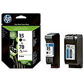 HP 15/78 Combo-pack Inkjet Print Cartridges