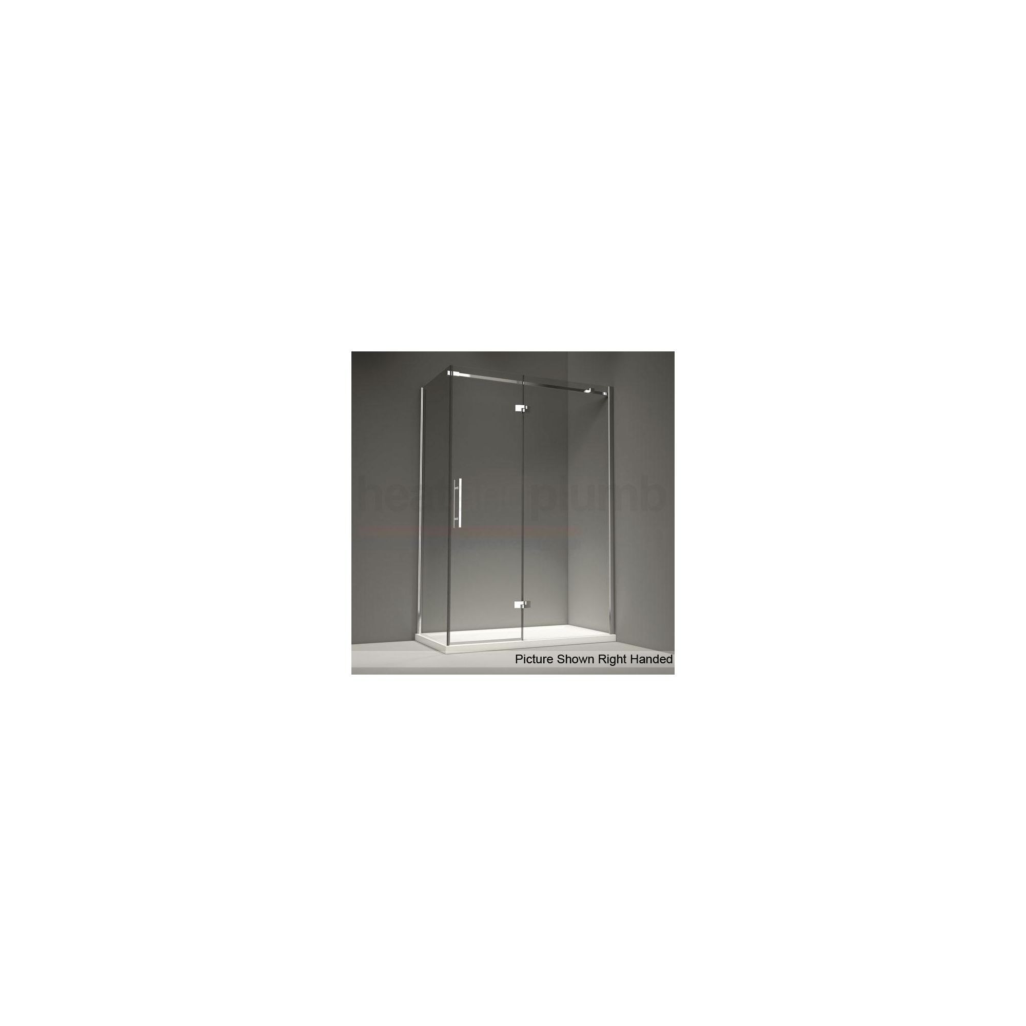 Merlyn Series 9 Inline Hinged Door Shower Enclosure, 1100mm x 800mm, Low Profile Tray, 8mm Glass at Tesco Direct