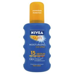 Nivea Sun Moisturising Spray SPF15 200ML