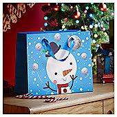 Large Chilly Snowman Christmas Gift Bag