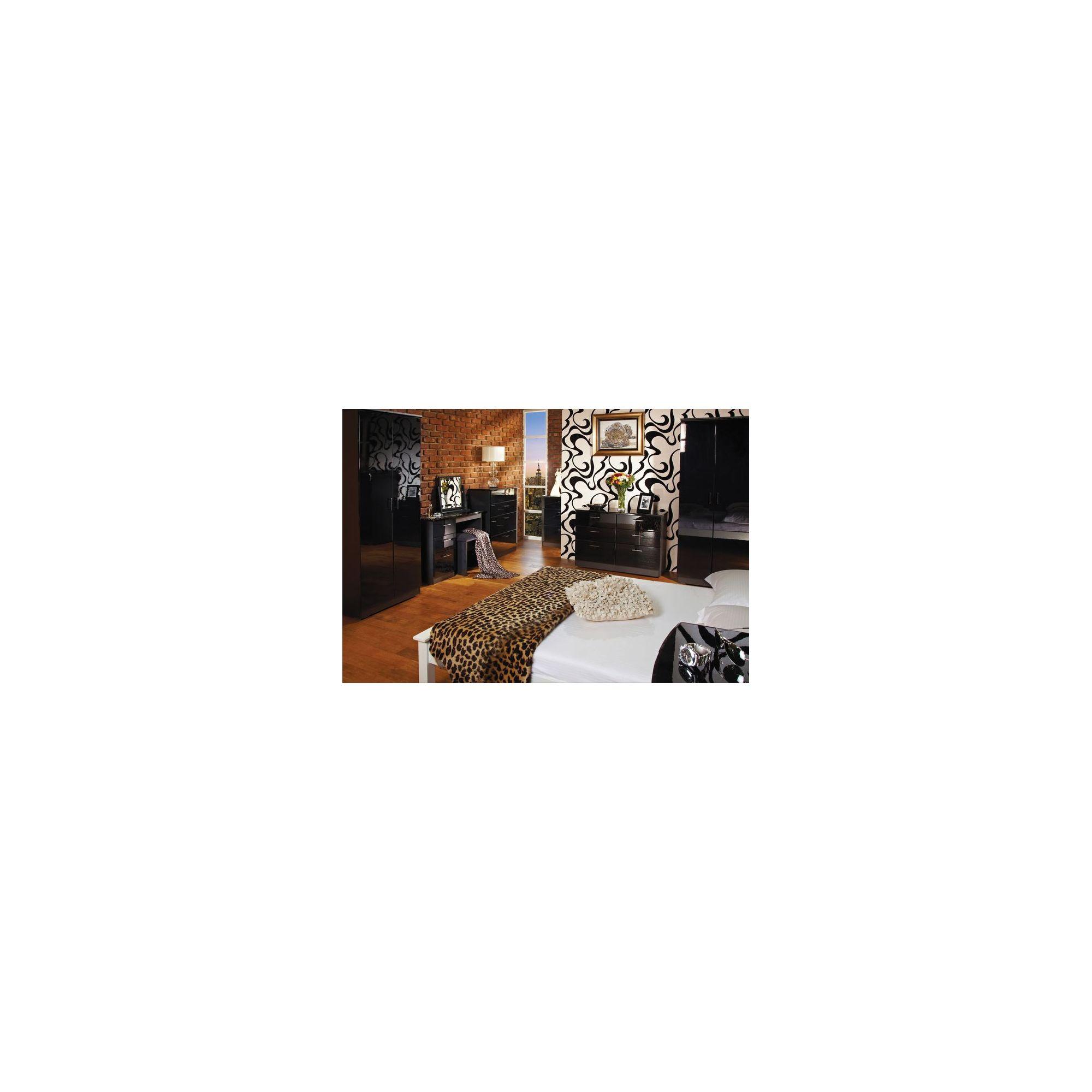 Welcome Furniture Mayfair Tall Plain Wardrobe - Aubergine - Black - Cream at Tesco Direct