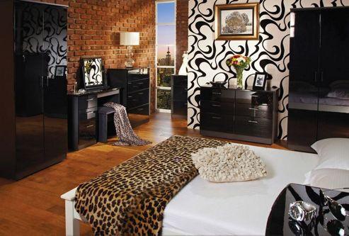 Welcome Furniture Mayfair Tall Plain Wardrobe - Aubergine - Black - Cream