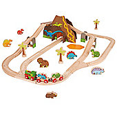 Bigjigs Rail Dinosaur Train Set