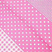 Decopatch Sheet ref. 486 Pink Spots,stripes,checks