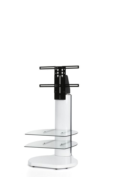 Off The Wall Origin II TV Stand - Silver / Clear glass