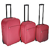 Tesco 2-Wheel Coral 3pc Suitcase Set