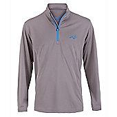 Woodworm Golf Mens 1/4 Zip Pullover / Sweater / Jumper - Grey