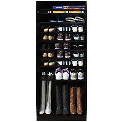 Micro - Open 10 Tier Shoe / Boot Storage Shelf - Walnut