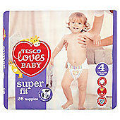 Tesco Loves Baby Super Fit Size 4 Maxi Carry Pack 26