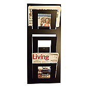 The Metal House Triple Tier Magazine Rack - Black